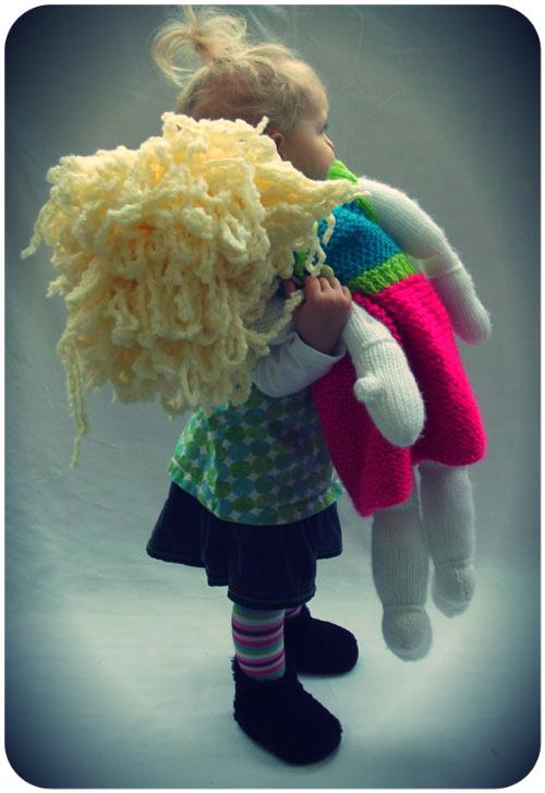 grande bambola di maglia 5